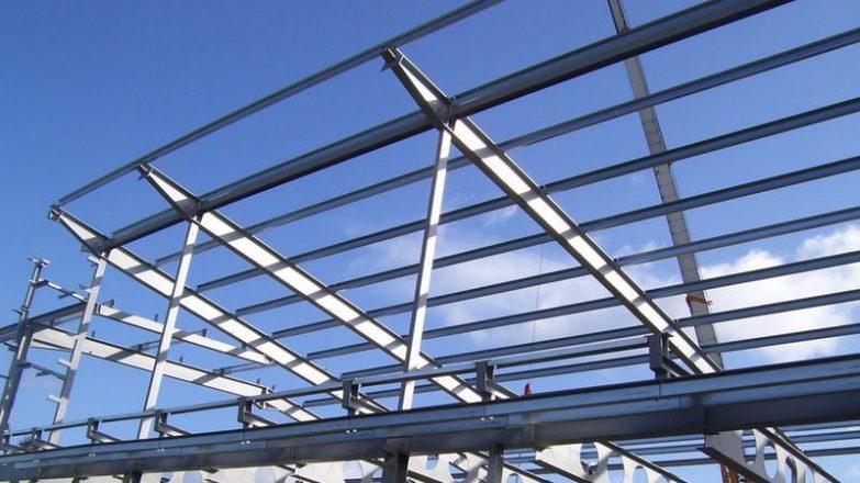 hacer un tejado con vigas de hierro