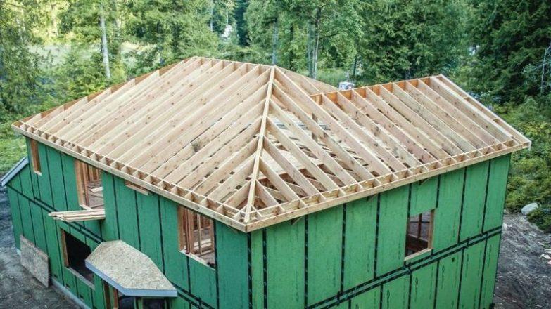 hacer un tejado de madera a dos aguas