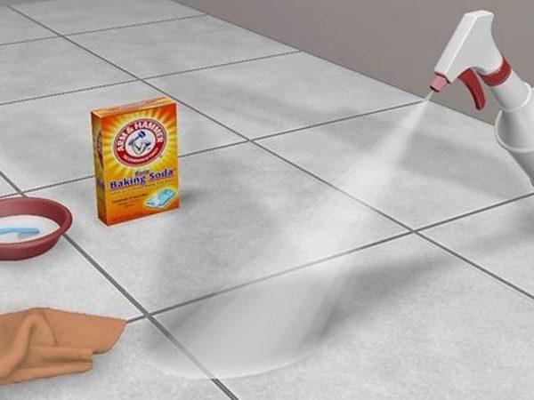 limpiar las juntas de las baldosas del suelo