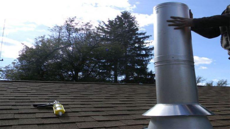 colocar los tubos de una chimenea