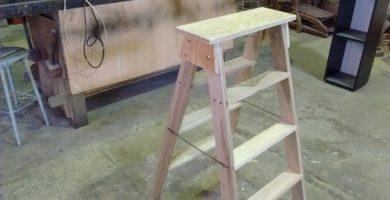 como hacer una escalera de madera sencilla