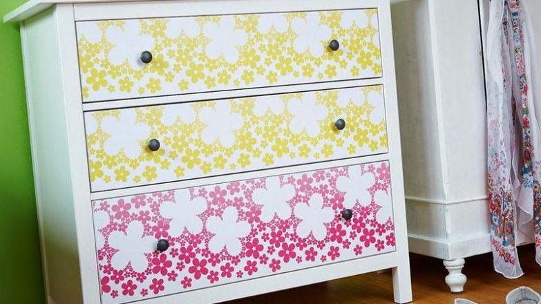 decorar un mueble con papel pintado