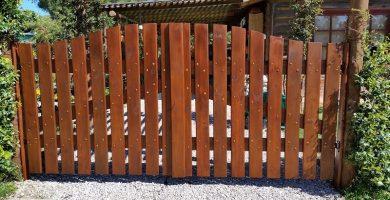 como hacer una puerta de madera rustica