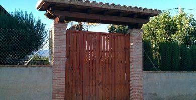 marquesina para puerta de entrada