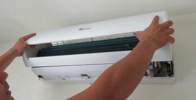 quitar carcasa de un split de aire acondicionado